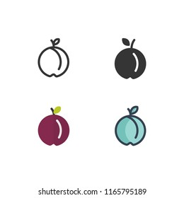 plum icons vector with different style