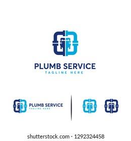 Plumb Service logo designs concept vector, Plumbing Industry Logo template