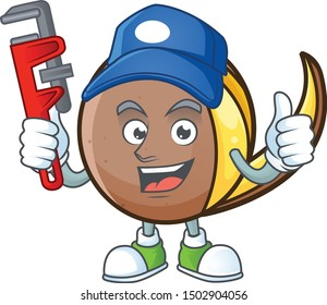 Plumber bambangan fruit with concept cartoon character
