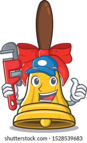 Plumber christmas bells in the character shape