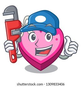 Plumber heart box in the cartoon sleep