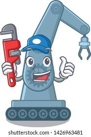 Plumber toy mechatronic robot arm cartoon shape