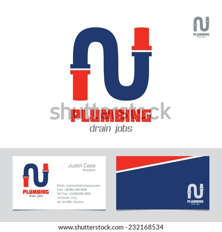 Plumbing business sign business card vector stock vector royalty plumbing business sign business card vector template plumbing service symbol brand visualization template wajeb Gallery