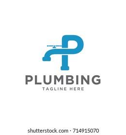 plumbing design logo template