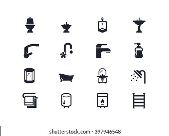 Plumbing, home renovation icons. Lyra series