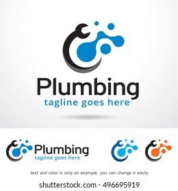 Plumbing Logo Template Design Vector