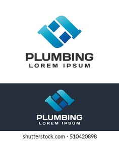 Plumbing pipes. Plumbing logo. Plumbing icon. Plumbing logo template. Plumbing service. Elements for brand Identity. Business card. Vector logo template. Drop logo. Drop icon.