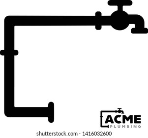 Plumbing pipes and spigot logo