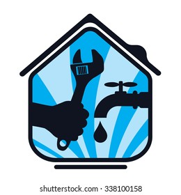 Plumbing repair the house, a symbol of business