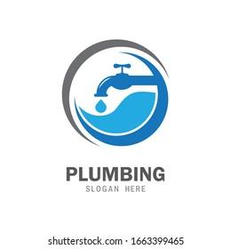 Plumbing service icon logo creative vector illustrattion