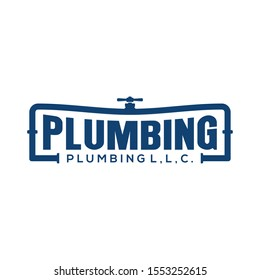 Plumbing service logo design - modern logo - plumbing industrial home service with wrench element