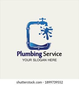Plumbing Service Logo icon vector illustration design Template.Plumbing logo.Plumbing service icon logo creative vector illustration