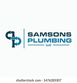 Plumbing Service Logo Template. Combine with letter S and P