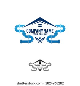 Plumbing Service Logo Template, Water Service Logo