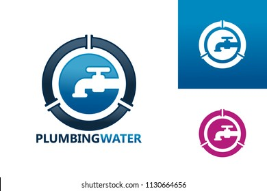 Plumbing Water Logo Template Design Vector, Emblem, Design Concept, Creative Symbol, Icon