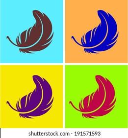 Plumelet,  logo design