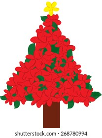 Plumeria Christmas tree
