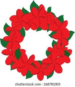 Plumeria Christmas wreath