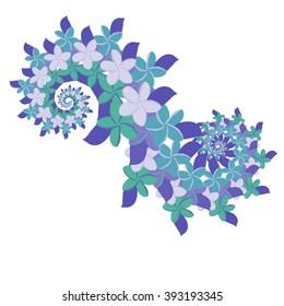 Plumeria Double Spiral - Blue