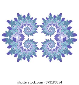 Plumeria Frame - Blue