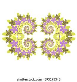 Plumeria Frame - Green and Lavender