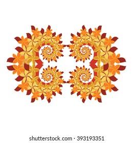 Plumeria Frame - Orange