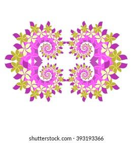 Plumeria Frame - Violet