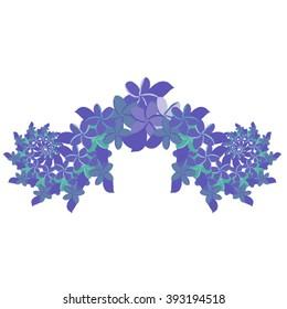 Plumeria Ornament - Blue