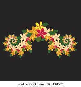 Plumeria Ornament - Natural