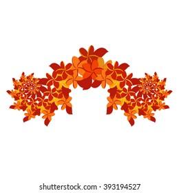 Plumeria Ornament - Orange