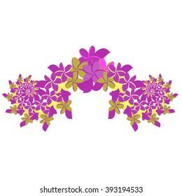 Plumeria Ornament - Violet