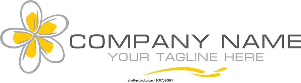 Plumeria. Simple logo for the company. Vector
