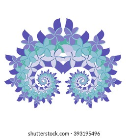 Plumeria Spiral - Blue