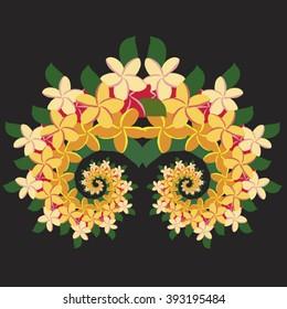 Plumeria Spiral - Natural