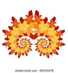 Plumeria Spiral - Orange