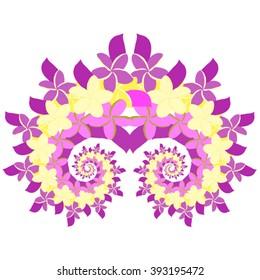 Plumeria Spiral - Violet