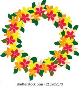 Plumeria wreath