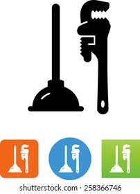 Plunger and Pipe Wrench icon