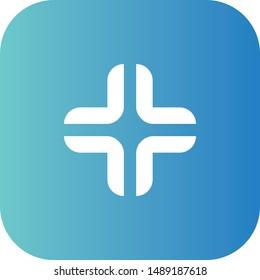 Plus icon, flat symbol vector design. Great for mobile app, web design, print materials, etc.