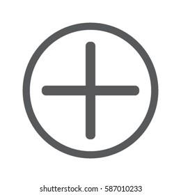 Plus icon, positive symbol vector illustration