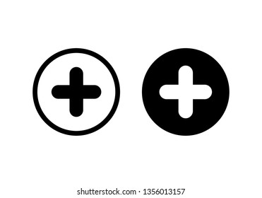 Plus Icon vector. Add icon. Addition sign. Medical Plus icon