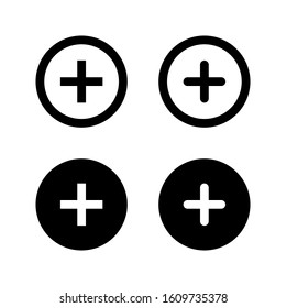 Plus Icon vector. Add icon. Addition sign. Medical Plus icon. vector illustration on white background. editable icon set