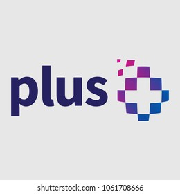 Plus Logo Design Blue and Purple