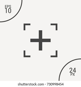 Plus minimal icon. Mark line vector icon for websites and mobile minimalistic flat design.