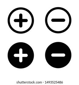Plus Minus Icon Vector Design Symbol Illustration