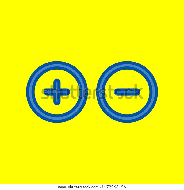 Plus Minus Sign Circle Icon Zoom Stock Vector (Royalty Free