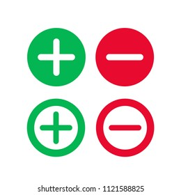 Plus and minus vector icon, flat add delete symbol. Simple, best illustration for web or mobile app