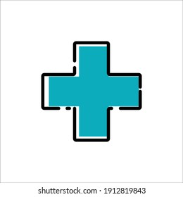 Plus sign healthcare icon design template vector isolated illustration