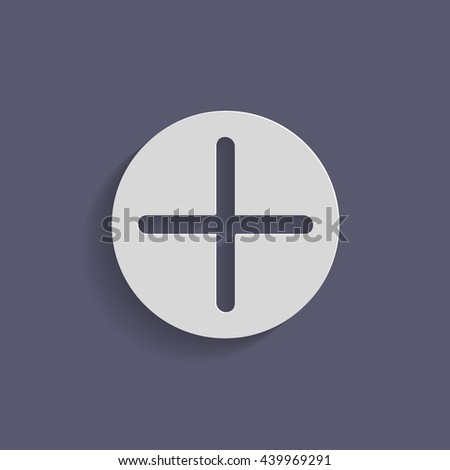 Plus Sign Icon Positive Symbol Stock Vector Royalty Free 439969291