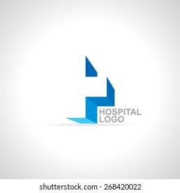 plus sign logo heath care logo concept